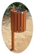 Corbeille sur poteau - Capacité : 30 litres