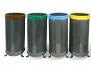 Corbeille tri selectif Fija aro - Capacité : 110 L