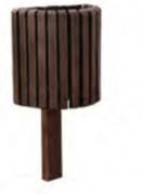 Corbeille urbaine en plastique recyclé 25 Litres - Capacité (L) : 25