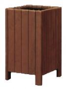 Corbeille urbaine hauteur 90 cm - Hauteur : 90 cm - 65 L