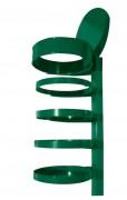 Corbeille vigipirate 4 arceaux - Structure en acier - Hauteur totale : 1200 mm
