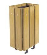Corbeille ville en bois 30 litres - Capacité (L) : 30