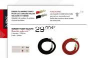 Cordon de guidage velours - Longueur : 160 mm