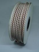 Cordon élastique en rouleau de 50 m - Rouleau de 50 m - Avec 4 fils d'acier conducteurs de 0.25 mm