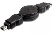 Cordon rétractable firewire 6/4 m - Cordon rétractable firewire 6/4 m