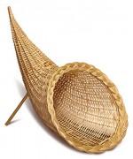 Corne d'abondance en osier - Diamètre : 30 ou 40 cm - Longueur : 50 ou 70 cm - Hauteur : 40 ou 60 cm