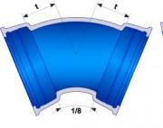 Coude PUX à joint verrouillé STANDARD Ve - Raccords gamme PUR Verouillés DN 600 à 1200