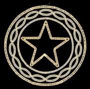 Couronne étoile lumineuse - Ruban incandescent - Puissance : 230V – 657w