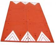 Coussin berlinois 6 éléments - Dimensions : 2250 x 1800 x 65 mm - 4 réflecteurs de nuit