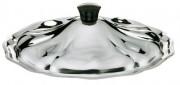 Couvercle Inox pour légumier - Dimensions 20 / 22 cm ø - Poids : 0,2 kg - Inox - Poigné ergonomique