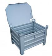 Couvercle pour caisse palette métallique - Couvercle avec bords recouvrants