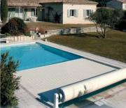 Couverture automatique pour piscine - Système de protection pour empêcher l'accès à la piscine aux enfants - Conformes à la norme NF P 90-308