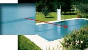 Couverture d'hivernage piscine - Finition : Ourlets + oeillets Inox tous les 50cm – Sandow