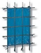 Couverture d'hivernage pour piscine - Système de protection pour empêcher l'accès à la piscine aux enfants - Conformes à la norme NF P 90-308