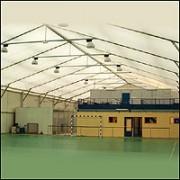 Couverture pour bâtiments sportifs - Double toiture translucide ventilée