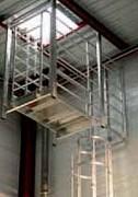 Crinoline et passerelle intérieures pour accès en toiture - Sur mesure - En inox, acier galvanisé ou aluminium
