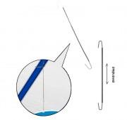 Crochet à ressort extensible pour affichage suspendu - Dimensions : 160-1300 - 210-1400 - 320-2500 mm