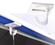 Crochet adhésif pour affichage suspendu - Fabriqué en PVC : Dimensions : L 24 x l 24 mm