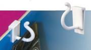Crochet avec patte pour barre de charge - Dimension (Lxl) : 30x24 mm