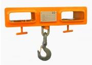 Crochet de levage à double passage fourche - CMU : 1 Tonne - Contrôle APAVE