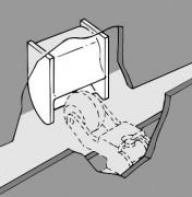 Crochet de réception - Systeme pour fermeture de porrte d'ascenseur
