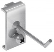 Crochet droit pour panneau porte outils - Charge max (kg) : 10