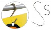 Crochet en S asymétrique - Dimensions : 27 - 68 mm