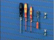 Crochet porte outils - R10 - Longueur (mm) : 28 ou 33 - Ecartement (mm) : 9 ou 17
