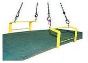 Crochets doubles pour plaques horizontales 6000 Kg - Charge maximale utile (kg) : 1500 - 3000 - 6000