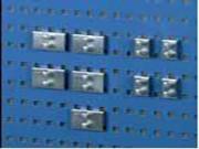 Crochets pour panneau porte-outils - R16 - Longueur (mm) : 20 ou 46 - Charge maximale (kg) : 20