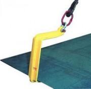 Crochets simples pour plaques horizontales utilisation par 4 avec palonnier 750 ou 1500 Kg - QS - Utilisation par 4 avec palonnier