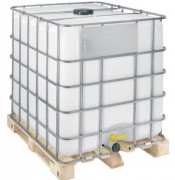Cubitainer sur palette plastique - Volume : 1000 Litres  -  Version alimentaire et non alimentaire