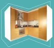 Cuisine préfabriquée en béton - Poids spécifique : 1.600 Kg/mc - isolement acoustique : Db 36