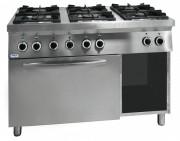 Cuisinière professionnelle - 3 brûleurs à 3,5 Kw et 3 brûleurs à 6 Kw