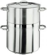 Cuit vapeur inox - Diamètre : 20 à 32 cm  - poids : 2.9 à 7.68 kg