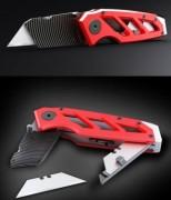 Cutter couteau professionnel - Cutter multi-usage avec compartiment de stockage des lames