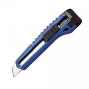 Cutter plastique, autobloquant, 15,5cm, utilise des lames 18mm, livré avec 6 lames - Safetool