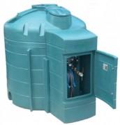 Cuve à fuel avec pompe - Capacité : 5000 L - Dimensions : Ø 2.120 x 2.510