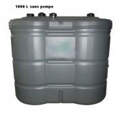 Cuve à fuel double paroi - Capacité : 1000 ou 1465 L -Dimensions (L x l x h) mm : 1580 x 790 x 1360