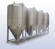 Cuve de fermentation pour brasserie - Vertical - conique- cylindrique - refroidi - sous pression