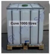 Cuve de stockage en plastique - Capacité : 1000 litres  -  Dimension : 100x120x118
