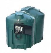 Cuve de stockage pour fuel - Capacité : 2 x 5000 L - Dimensions :2x (h: 2400 mm Ø 2120 mm)