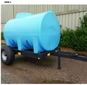 Cuve de transport d'eau avec châssis - Capacité : 6000 L -Dimensions : L 3940 x l 2530 x h 670