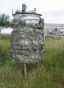 Cuve double enveloppe agitée 704 litres occasion - Réservoir bombé sur pieds