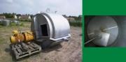Cuve double enveloppe pour agitation 3000 litres occasion - Cuve agitée à oreilles en inox