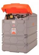 Cuve station ravitaillement gasoil avec enrouleur - Débit : 72 l.min - Capot de protection PE - Capacité : 2500 L
