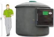 Cuve stockage et distribution gasoil et fioul - Assure une réserve de carburant autonome de 2500 ou 5000 litres