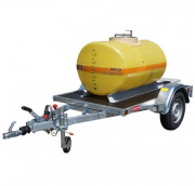 Cuve stockage polyester sur essieu routier - Contenance : de 600 à 2000 L