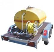 Cuve sur remorque routière - Capacité : 600,1000,1500 ou 2000 L