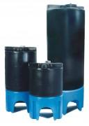 Cuves plastique à vidange totale - Capacités (L) : 200 - 300 - 500